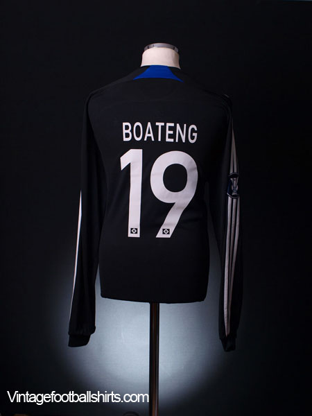 2007-08 Hamburg UEFA Cup Match Issue Away Shirt Boateng #19