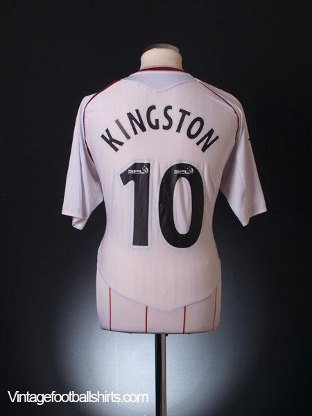 2007-08 Hearts Away Shirt Kingston #10 L