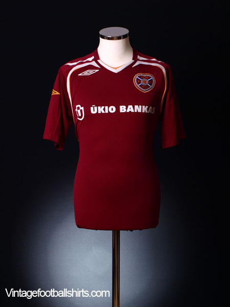 2007-08 Hearts Home Shirt M