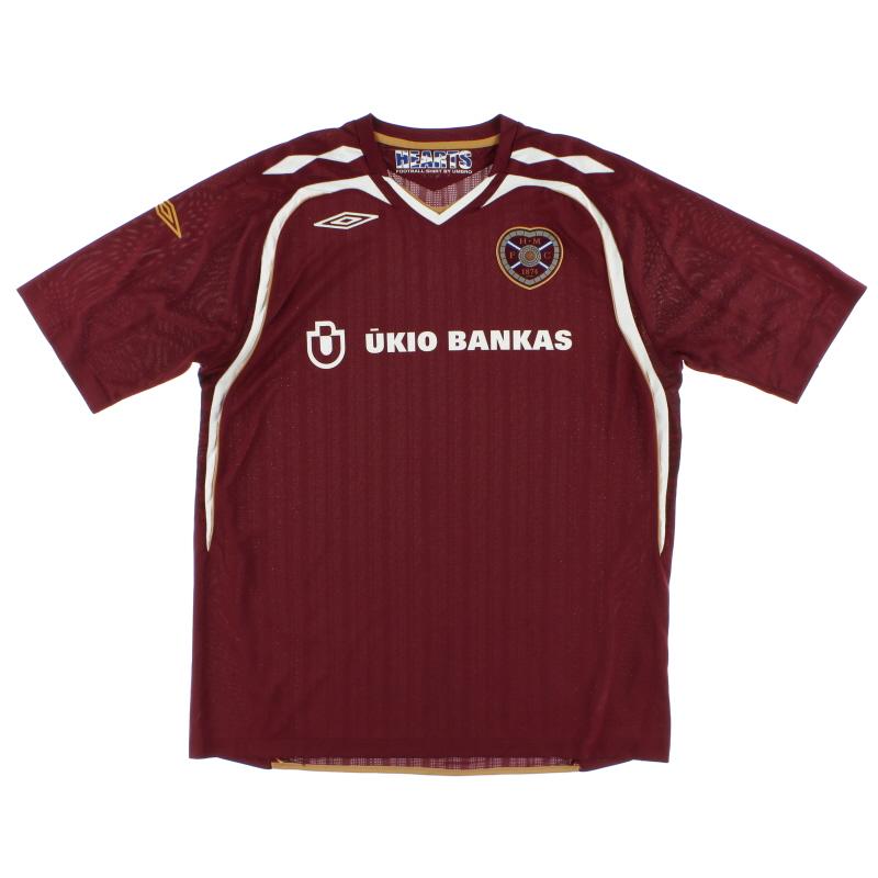 2007-08 Hearts Home Shirt XL