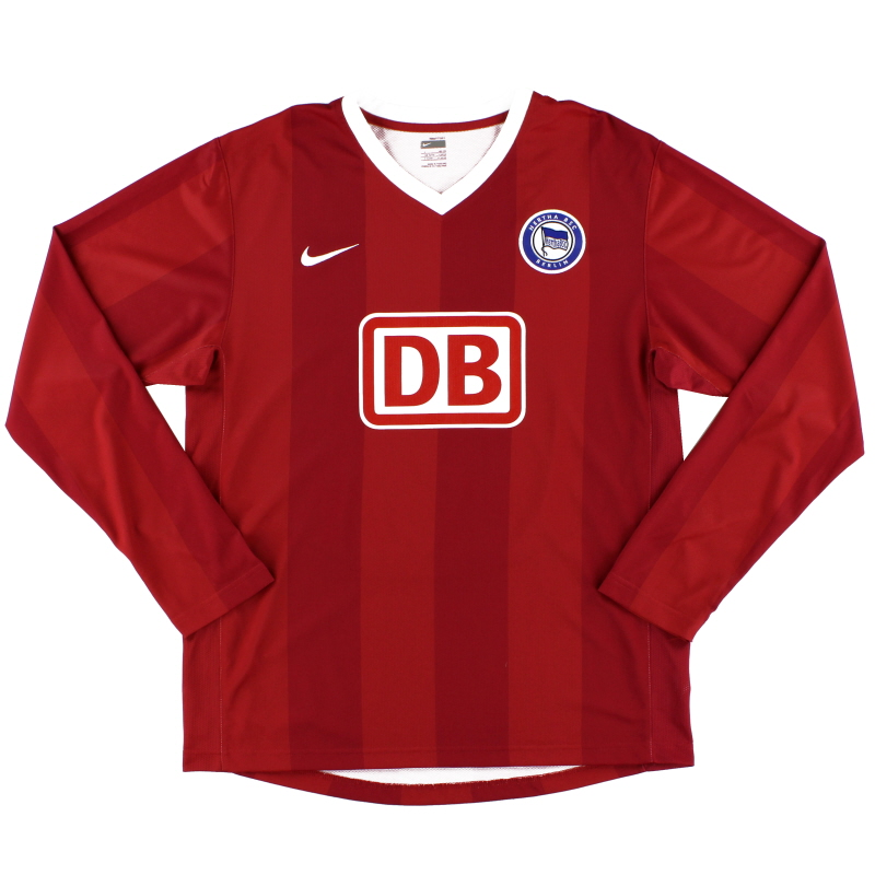2007-08 Hertha Berlin Player Issue Away Shirt #10 L/S L