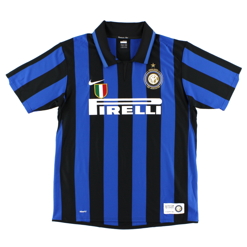 2007-08 Inter Milan 'Cento Anni' Centenary Home Shirt XL