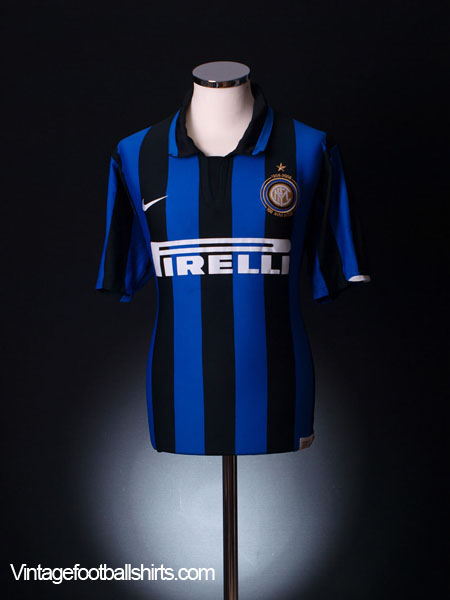 2007-08 Inter Milan Centenary Home Shirt S
