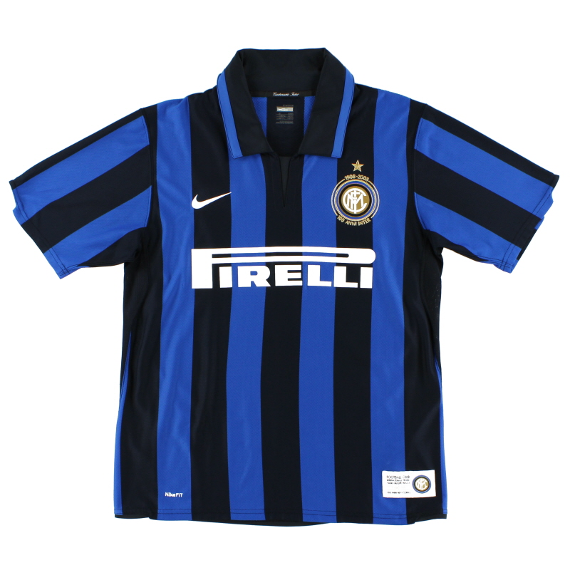 2007-08 Inter Milan Centenary Home Shirt L.Boys