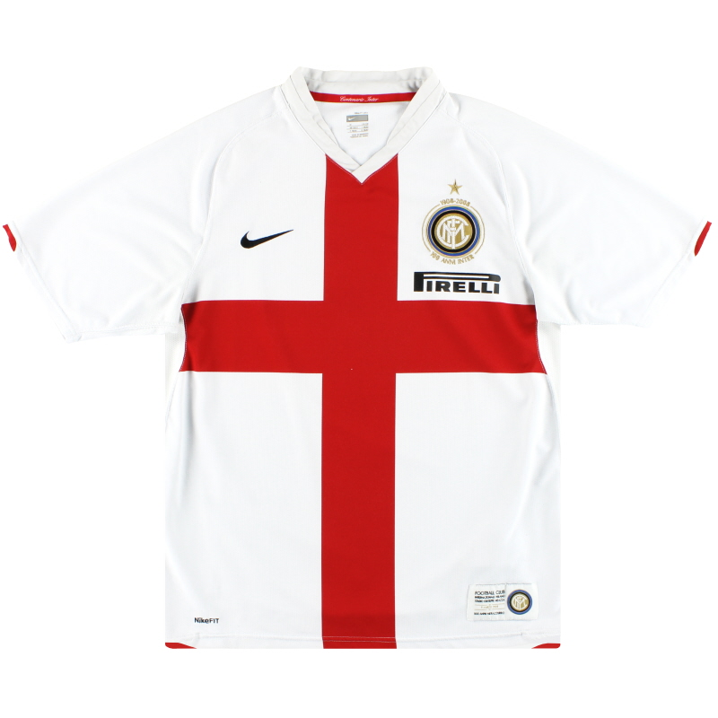 2007-08 Inter Milan Nike Centenary Away Shirt L