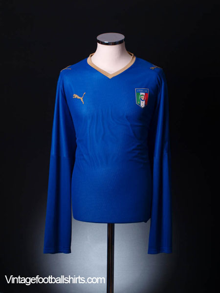 2007-08 Italy Home Shirt L/S  M