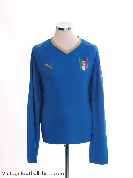2007-08 Italy Home Shirt L/S XL