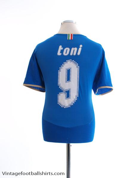 2007-08 Italy Home Shirt Toni #9 XL