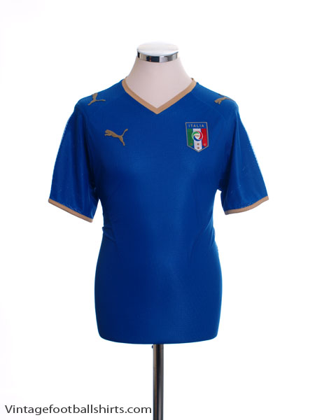 2007-08 Italy Home Shirt S