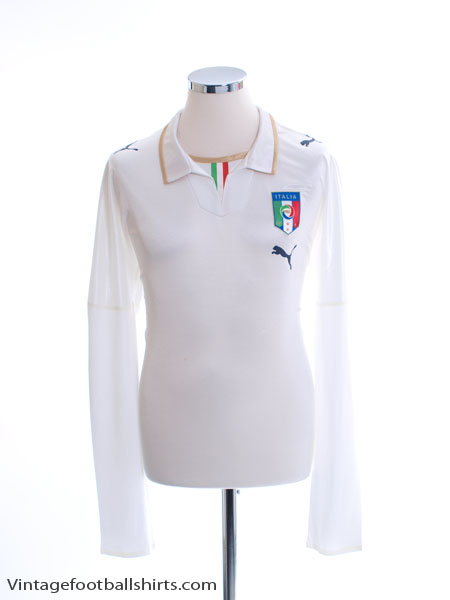 2007-08 Italy Player Issue Away Shirt L/S XL
