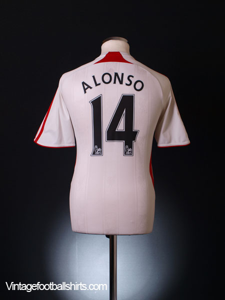 2007-08 Liverpool Away Shirt Alonso #14 S