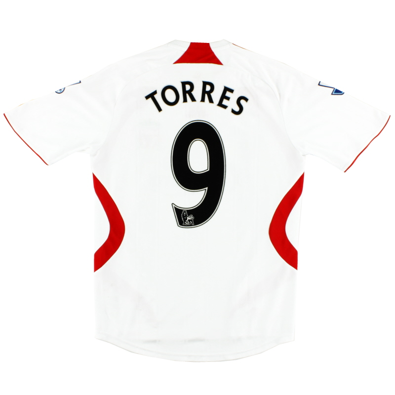 2007-08 Liverpool Away Shirt Torres #9 S