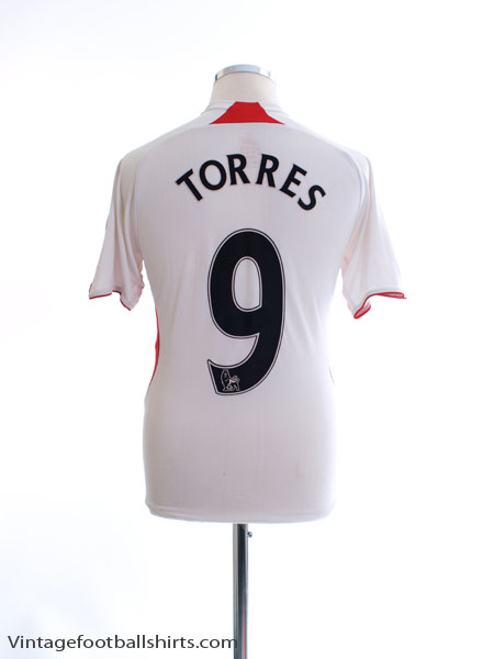 2007-08 Liverpool Away Shirt Torres #9 Y - 694402