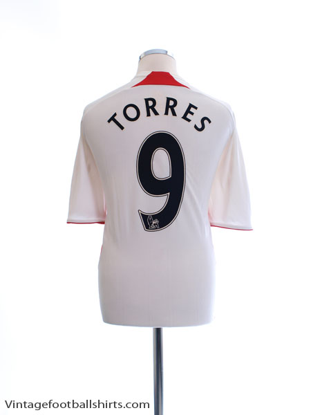 2007-08 Liverpool Away Shirt Torres #9 L - 694745