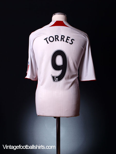 2007-08 Liverpool Away Shirt Torres #9 XL