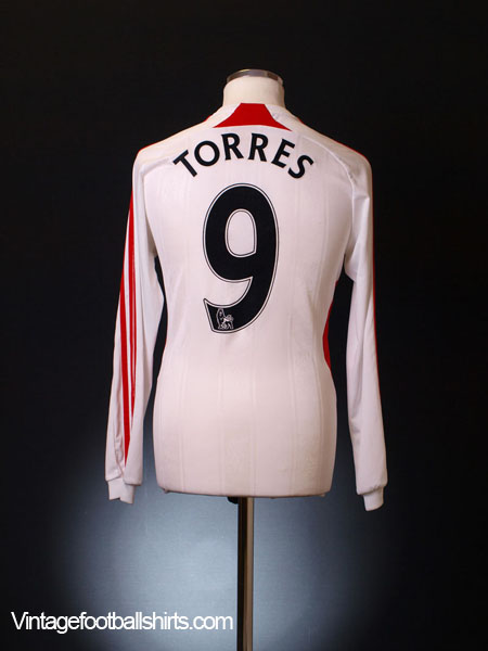 2007-08 Liverpool Away Shirt Torres #9 L/S XL