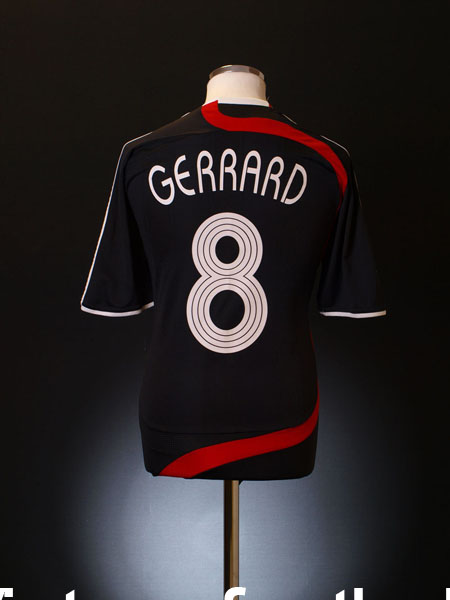 2007-08 Liverpool CL Third Shirt Gerrard #8 L