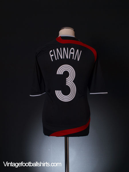2007-08 Liverpool Match Issue European Third Shirt Finnan #3 L