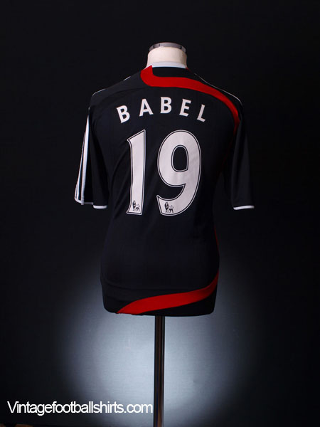 2007-08 Liverpool Third Shirt Babel #19 M