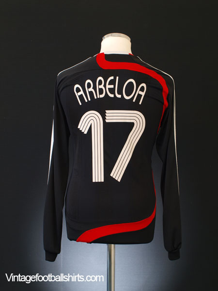2007-08 Liverpool Third Shirt Arbeloa #17 L/S M