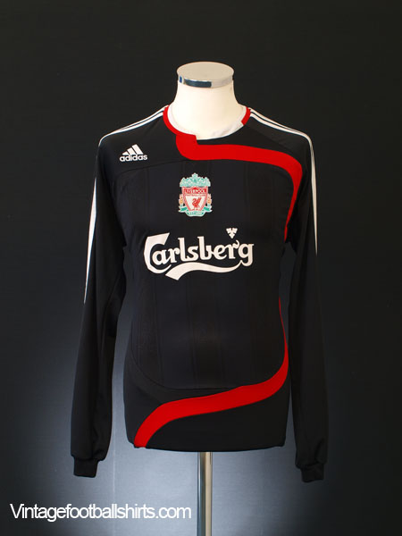 2007-08 Liverpool Third Shirt L/S XL.Boys