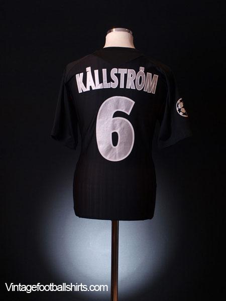 2007-08 Lyon CL Match Issue Third Shirt Kallstrom #6