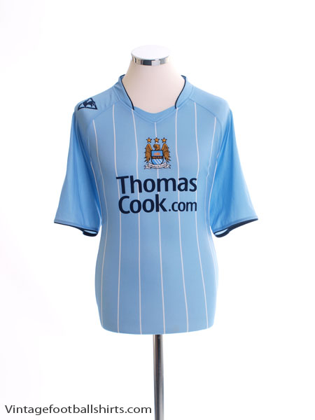 2007-08 Manchester City Home Shirt L