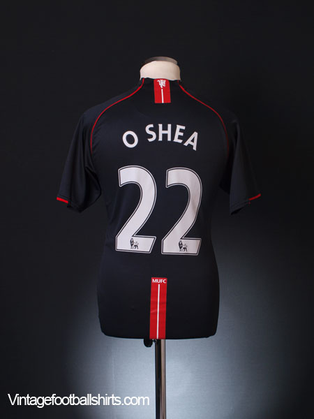 2007-08 Manchester United Away Shirt O'Shea #22 M