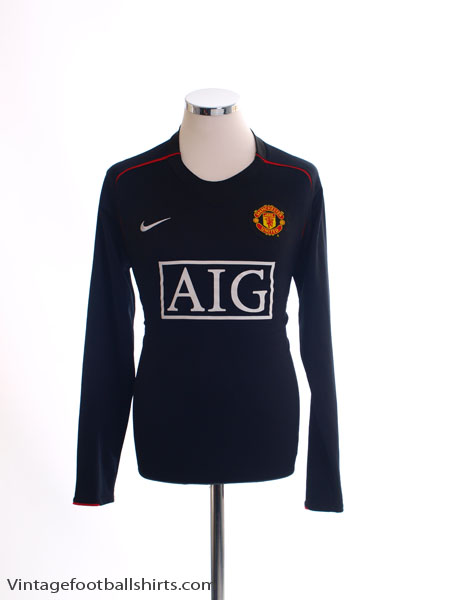 2007-08 Manchester United Away Shirt L/S M
