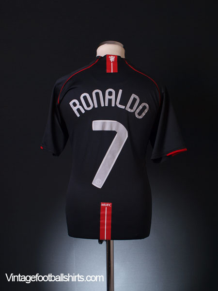 2007-08 Manchester United European Away Shirt Ronaldo #7 XL