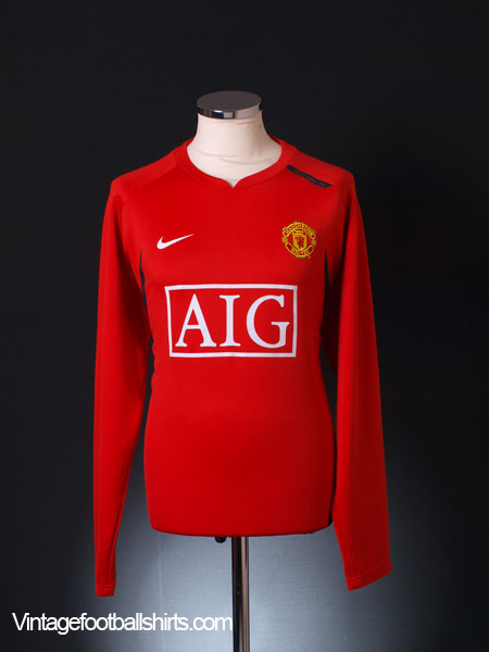 2007-08 Manchester United Training Jumper L