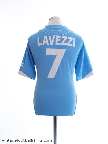 2007-08 Napoli Home Shirt Lavezzi #7 XL