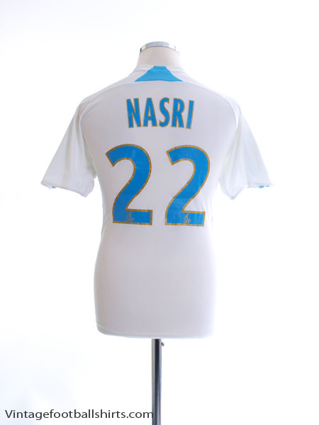 2007-08 Olympique Marseille Home Shirt Nasri #22 L