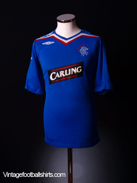 2007-08 Rangers Home Shirt L