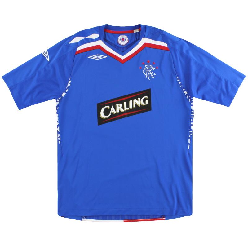 2007-08 Rangers Umbro Home Shirt M