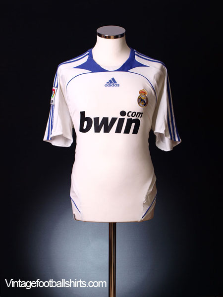 1b39efc8a Click to enlarge. 2007-08 Real Madrid Home Shirt Sergio Ramos  4 S