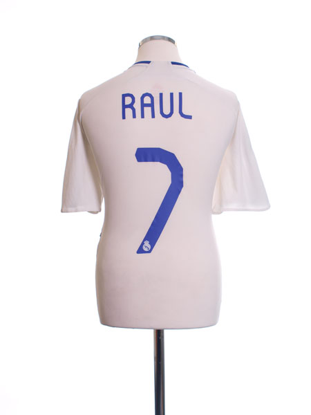 2007-08 Real Madrid Home Shirt Raul #7 M