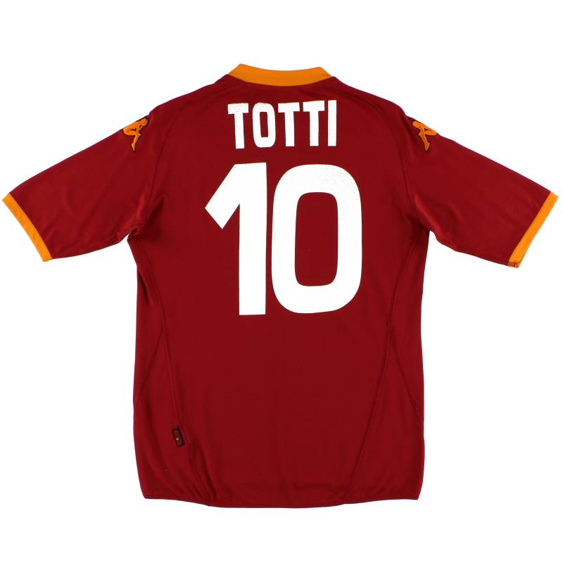 2007-08 Roma Home Shirt Totti #10 L