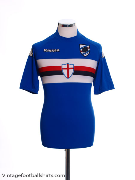 2007-08 Sampdoria Home Shirt *Mint* M