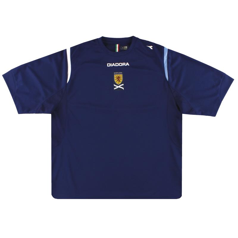 2007-08 Scotland Diadora Training Shirt XXL