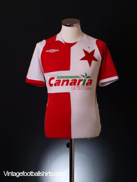 2007-08 Slavia Prague Home Shirt S