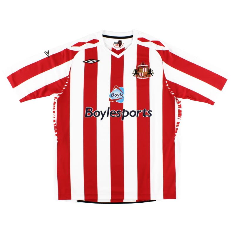 2007-08 Sunderland Umbro Home Shirt *Mint* L