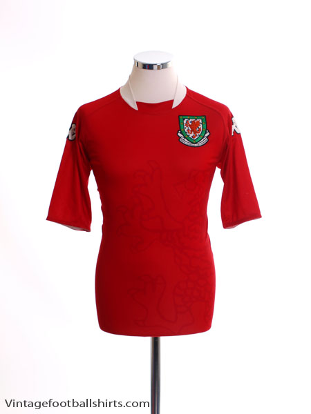 2007-08 Wales Home Shirt M