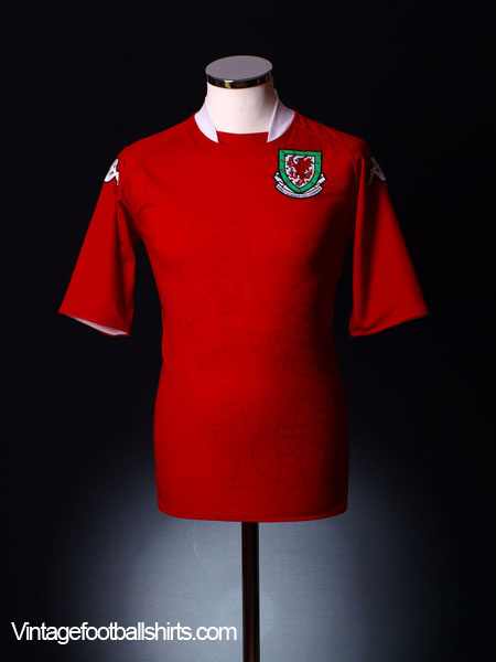 2007-08 Wales Home Shirt S