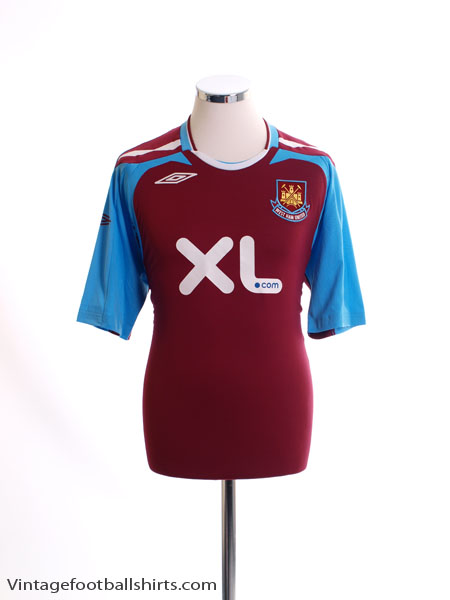 2007-08 West Ham Home Shirt L