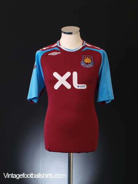 2007-08 West Ham Home Shirt M