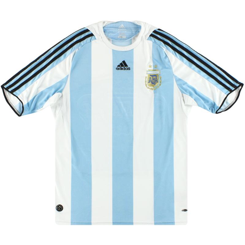2007-09 Argentina adidas Home Shirt M