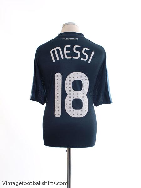 2007-09 Argentina Away Shirt Messi #18 XL