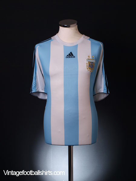 2007-09 Argentina Home Shirt L.Boys