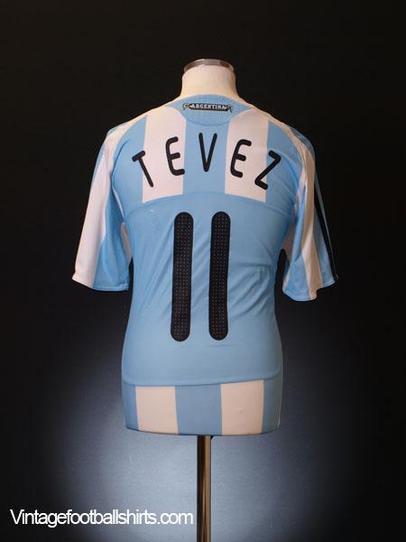 2007-09 Argentina Home Shirt Tevez #11 M